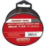 W2411 24/0.20 Black 10m Tinned Hook Up Handyman Cable Reel
