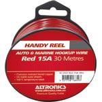 W2420 26/0.254 Red 30m Tinned Hook Up Handyman Cable Reel