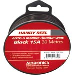 W2421 26/0.254 Black 30m Tinned Hook Up Handyman Cable Reel