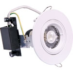 X2007 White GU10 Gimbal Downlight Light Fitting