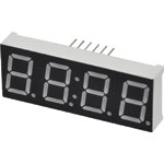 "Z0195 0.5"" Red 7 Segment 4 Digit Clock Display"
