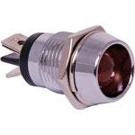 Z0230 Red 100mcd 10mm LED With Chrome Bezel