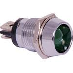 Z0232 Green 36mcd 10mm LED With Chrome Bezel
